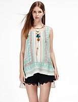 Heart Soul® Women's Round Neck Sleeveless T Shirt Blue-11AA27872