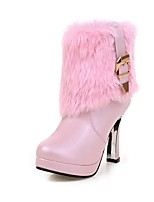 Women's Boots Fall / Winter Fashion Boots Dress Chunky Heel Others Black / Pink / White Walking