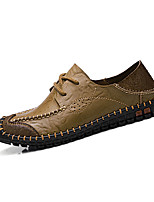 Men's Flats Fall / Winter Flats e Office & Career / Casual Flat Heel  Brown / Khaki Others