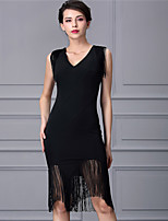 Baoyan® Women's V Neck Sleeveless Above Knee Dress-160333