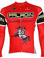Deportes Bicicleta/Ciclismo Tops Hombres Mangas largas Transpirable / Resistente a los UV / Reductor del Sudor Coolmax AnimalRojo / Caqui