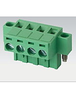 Plug And Plug Type Wiring Terminal 2EDGKM-5.08mm With Ear / Flange Fixed Hole Environmentally Friendly Flame Retardant