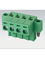 branchez et branchez le type de terminal de câblage 2edgkm-5.08mm avec oreille / bride trou fixe respectueux de l'environnement ignifuge