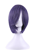 The New Anime COSPLAY Wig Black Ministers Shire/cher Master Purple Wig 10Inch