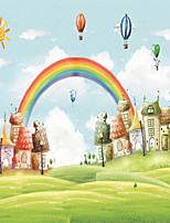 JAMMORY 3D Wallpaper For Home Contemporary Wall Covering Canvas Material Cartoon Castle The Rainbow3XL(14'7''*9'2'')