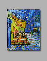 Stretched (Ready to hang) Hand-Painted Oil Painting Canvas Abstract Van Gogh repro Cafe Terrace Mini Size