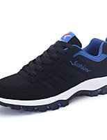 Черный / Синий / Серый-Мужской-Для прогулок / На каждый день / Для занятий спортом-Полиуретан-На плоской подошве-С круглым носком-Кеды