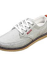 Синий / Серый-Мужской-На каждый день-Ткань-На плоской подошве-Удобная обувь-На плокой подошве