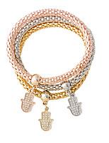 Bracelet/Charm Bracelets Alloy Others Fashionable Jewelry Gift Gold / Silver / Rose Gold,1set