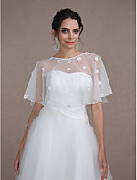 Women's Wrap Capelets Sleeveless Lace / Tulle Ivory Wedding / Party/Evening Scoop Appliques Clasp / Pullover