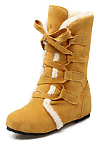 Women's Shoes Snow Boots / Fashion Boots / Round Toe Boots Office & Career / Dress / Casual Low Heel Fur / Lace-up