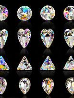 10PCS Nail Art   luxury Seven color  iridescence alien AB diamond  16 Style Optional