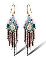 TIANSHE Women'S The 925 Vintage Yingou explosion Tassel Earrings Alloy 1 pair