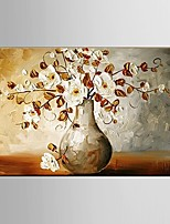 Ready to Hang Stretched Frame Hand-Painted Flower Oil Painting Canvas Wall Art Home Office Decor