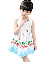 Girl's Casual/Daily Print DressPolyester Summer Pink / White / Yellow