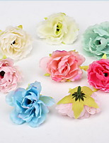 The New Half Manual Small Hibiscus Silk Flowers