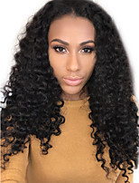 Curly U Part Lace Front Human Hair Wigs For Women Deep Curly Middle Part Lace Front Wigs