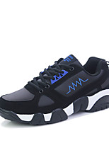 Men's Sneakers Spring / Fall Comfort PU / Fabric Athletic Flat Heel Lace-up Blue / Yellow / Black and Red Sneaker