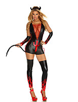Faux Leather Sexy Vampire Costume For Halloween Costumes Party Female Bull Demon King Cosplay