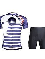 Paladin Sport Men  Cycling Jersey + Shorts Suit DT693 Baseball Stripe