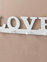 Daily Fashion Home LOVE Wall Hanging Coat Rack Cloth Storage Hook Behind Door