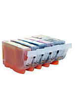 Printer Cartridges Pgi825Bk Cli-826,A Pack Of 6 Box, Carton, Different Colors Are: Black, Red, Yellow, Blue, Black, Gray