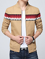 In the summer of 2016 Korean men's jacket new Metrosexual fashion collar long sleeved jacket Mens polyester