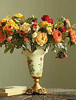 Hi-Q 1Pc Decorative Flowers Real For Wedding Home Table Decoration Camellia Artificial Flowers