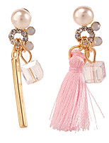 Boucle Forme Géométrique Boucles d'oreille goutte Bijoux 1 paire Mode Quotidien / Décontracté Alliage Femme Blanc / Incarnadin