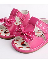 Girl's Sandals Summer Sandals PU Casual Flat Heel Bowknot Blue / Pink / Red / Fuchsia / Orange Others