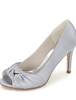 Women's Shoes Satin Spring / Summer / Fall Peep Toe Sandals Wedding / Party & Evening / Dress