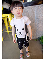 Boy's Casual/Daily Solid Clothing Set,Cotton Summer Pink / White