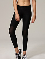 Yoga Pants Pants/Trousers/Overtrousers Breathable / Compression Natural Stretchy Sports Wear Black Women's Sports Yoga