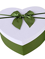 Flower Box Storage Box Two Color Choices Carton Packaging Kit Exquisite Heart-Shaped Gift Box Bow Gift Box