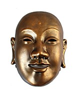 Resin Mask Halloween Cosplay Mask Party Decor Mask Collection 1pc Halloween Masks High Quality One size Gold Paper