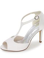 Women's Shoes Satin Spring / Summer / Fall Peep Toe / Sandals Sandals Wedding / Party & Evening / Dress