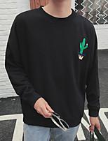 Men's Print Casual SweatshirtCotton Long Sleeve Black / Blue / White