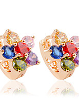 Boucle Forme de Fleur Bijoux 1 paire Mode Mariage / Soirée / Quotidien / Décontracté Alliage / Acrylique Femme Doré