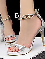 Women's Sandals Summer Sandals / Open Toe PU Dress Stiletto Heel Others Black / Pink / Red / Silver / Gray / Gold Others