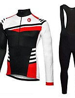 KEIYUEM®Spring/Summer/Autumn Long Sleeve Cycling Jersey+long Bib Tights Ropa Ciclismo Cycling Clothing Suits #L58