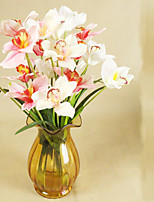 Hi-Q 1Pc Decorative Flowers Real For Wedding Home Table Decoration Cymbidium Artificial Flowers