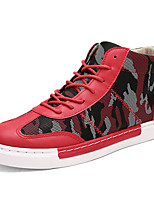 Running Shoes / Casual Shoes Men's / Women's / Unisex Anti-Slip / Wearproof High-Top Leisure Sports Red / Black / Blue