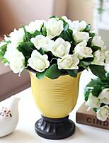 1 1 Филиал Пластик Гардения Букеты на стол Искусственные Цветы 11.8inch/30cm