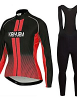 KEIYUEM®Spring/Summer/Autumn Long Sleeve Cycling Jersey+long Bib Tights Ropa Ciclismo Cycling Clothing Suits #L57