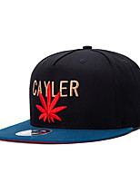 New Men Women Letter and Weed Leaf Embroidery Street Dance Hip Hop Baseball Caps