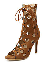 Women's Sandals Peep Toe / Fashion Boots / Gladiator Fleece Party & Evening / Dress / Casual Stiletto Heel Lace-up