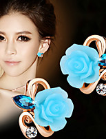 Earring Flower Stud Earrings Jewelry Women Fashion Daily / Casual Alloy 1 pair Gold