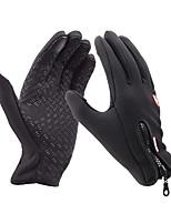 Cycling Gloves / Ski Gloves / Touch Gloves Winter Gloves Unisex Keep Warm Ski & Snowboard Black Canvas M / L / XL