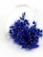 1500 pc Esche morbide / Mosche Blu scuro / Verde / Arancione / Giallo / Rosso / Caffè 2 g/1/10 Oncia,5 mm/<1