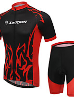 Men's Cycling Clothing Sets New Fashion Banquet Styles Pattern Bicycle Sports Comfortable Short Cycling Jersey 1 Set
